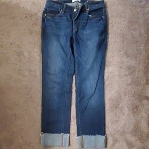 Loft cuffed ankle jeans